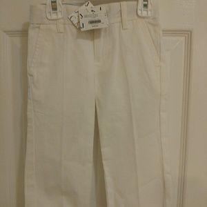 Janie and Jack boys white dress pants 3